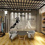 Nordic Wallpaper Industrial Style Cement Graue