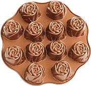 "Nordic Ware 3D-Backform "" Rosen - Muffin """