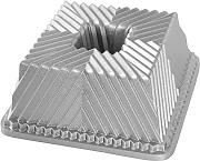 NordicWare Backform Quadrat, Aluminium, Silber,
