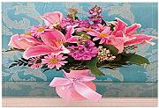 NVCBHk Blossom Decor Bath Rug A Bunch of Flowers