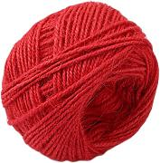 ODN 50m Jute Rope DIY Geschenkband Schmuck Accessoires 2mm Natural jute for Crafts Arts (Rot)