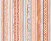 Oilily Streifen Design Tapete - Orange/Creme/Blau