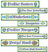 Oktoberfest Sign Cutouts