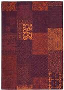 One Couture Patchwork-Teppich, Jacquard, Rot, 80 x