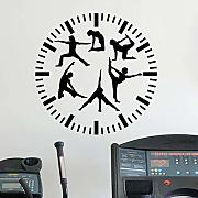 ONETOTOP Fitness Uhr Wandtattoos Fitness Yoga Yoga