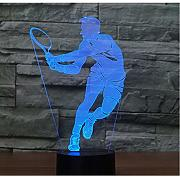 Optical Illusions 3D Tennis Nacht Licht LED Lampen