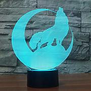 Optical Illusions 3D Wolf Nacht Licht LED Lampen