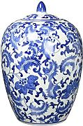"Oriental Furniture 11"" Floral Blue & White"