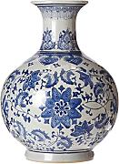 "ORIENTAL FURNITURE 12"" Floral Blue & White"