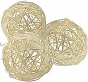 Ougual Wicker Rattan Decorative Balls Table