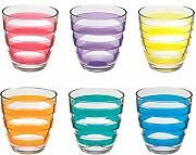 Pasabahce Set 6 Wasserglas helezon Multicolor