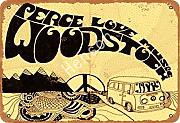 Perce Love Music Woodstock Zinn Metall Zeichen