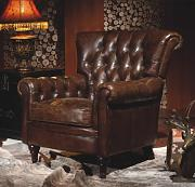 Phoenixarts Sessel Chesterfield Ledersessel