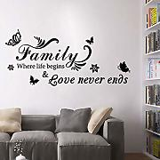 Poetryer Home Zitate Wandsticker Artwork Familie