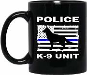 Police K-9 Unit US American Flag Thin Blue Line K9