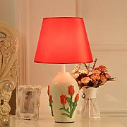 QIN PING GUO Nachttisch Lampe (Farbe : Rot)