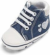 QINJLI Baby Schuhe, Denim Embroidered Love