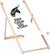 QUEENCE Liegestuhl »Keep calm and be a unicorn«,