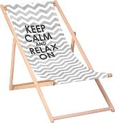 QUEENCE Liegestuhl »Keep calm and relax on«, 120