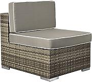 Rattan Loungeelement Espace Exclusive Sofa Mitte inkl. Polster - Farbe: braun melier
