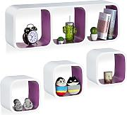 Relaxdays Cube Regal, 4er Set, Freischwebend,