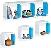 Relaxdays Cube Regal, 4er Set, Schwebend,