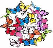 Relaxdays Gartendeko Schmetterling, 36er Set,