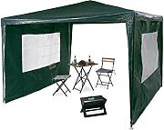 Relaxdays Pavillon 3x3 m, 2 Seitenteile, Metall