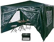 Relaxdays Pavillon 3x3 m, 4 Seitenteile, Metall