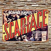Scarface Movie Zinn Metall Zeichen Retro Mauer