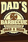 Schatzmix Dads Barbeque BBQ Grill Metal Sign deko