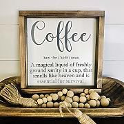 Schilder 30x30cm Coffee Definition Schild Coffee