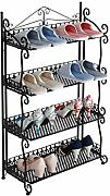 Schuhregal- Schmiedeeisen Schuhregal 4-Tier-Regal