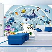 Seamless wallcovering_Underwater World Wallpaper