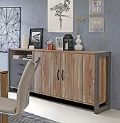 Sideboard in grau/ Kiefer