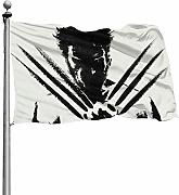 SJPillowcover The Wolverine bedruckte Flagge