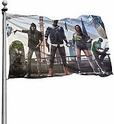 SJPillowcover Watch Dogs bedruckt Flagge Garten