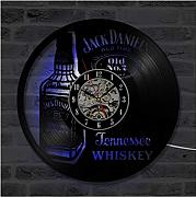 SKYTY Whiskey Beer Cd Wanduhr Led Beleuchtung