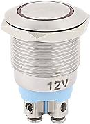 Sourcingmap® DC 12 V Rot LED-Lampe 19 mm