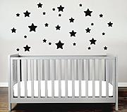 Sterne Sticker Set Kinderzimmer Wandsticker 30er