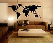 Stickerkoenig Wandtattoo Weltkarte World Map Motiv