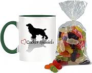 Stilvolle Herz Design Cocker Spaniel bicolor Tasse