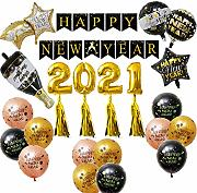 Sunnyushine Silvester-Ballon-Set ,