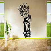 Super Saiyan Vinyl Wandtattoo Cartoon Anime Kunst