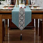 Table Runner Mit Tassels, American Table Cloth