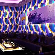 Tapete 3D Vlies Ktv Wallpaper Reflective Wallpaper