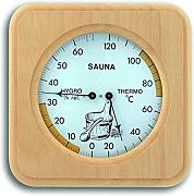 TFA Dostmann Analoges Sauna-Thermo-Hygrometer, mit