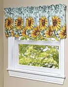 The Lakeside Collection Sonnenblumen-Fenstervolant