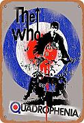 The Who Quadrophenia Zinn Metall Zeichen Retro