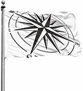 Tiffany Church Compass Rose Isolated Outdoor Flag